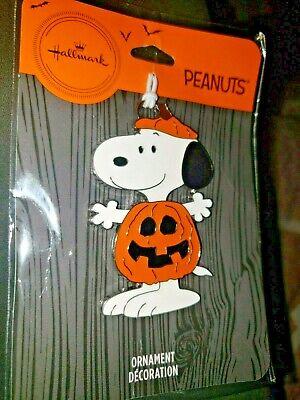 2019 Hallmark Peanuts Snoopy In Pumpkin Costume Halloween Christmas Ornament