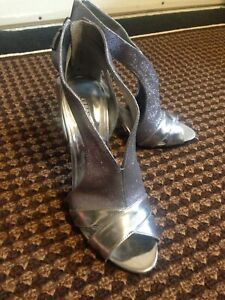 Silver Guess Heels