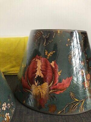 2 Matching House of Hackney Artemis Printed Velvet Large Lampshades