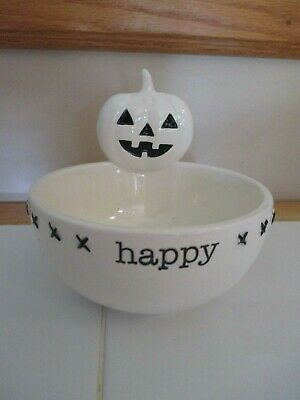 NWT Mud Pie Halloween Jack O'Lantern Ceramic 5