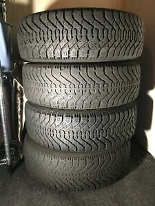 Goodyear Nordic 195-65-15 same height as the OEM 205-55-16