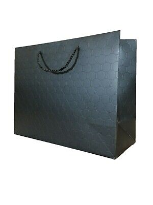 Paper Shopping Bags With Handles (Gift Bags Large Black Paper Shopping Bags with handles Bulk Heavy Duty 13 x 10)