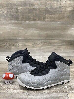 Nike Air Jordan 10 X Retro Size 10 Cement Gray White Black 310805-062 Basketball