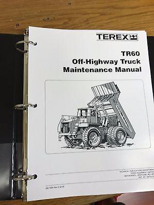 Terex Tr60 Off-highway Truck Shop Maintenance Manual