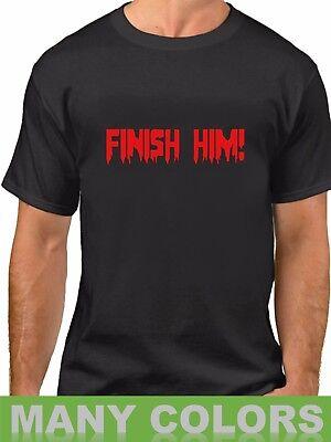 Finish Him T Shirt Scary Funny Tee Easy Halloween Costume Jack O'Lantern T-Shirt