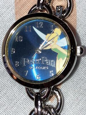 Vtg Walt Disney 50th Anniversary Peter Pan Tinker Bell Watch EUC