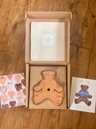 "Nordstrom Martha Stewart 7"" Teddy Bear Copper Cookie Cutter In Original Box"