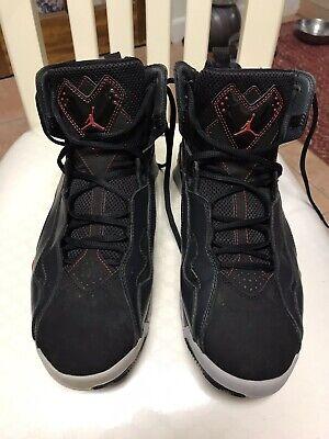 NIKE Air Jordan True Flight Black/Gym Red-Anthracite 342964-002 Size 10 (EUC)