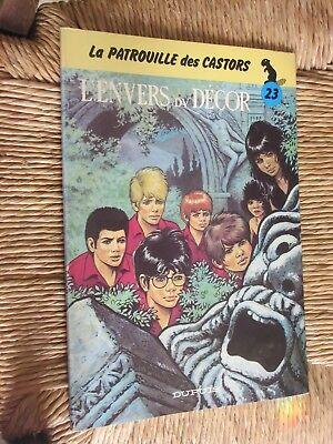 MITACQ LA PATROUILLE DES CASTORS L'ENVERS DU DECOR N° 23 de 1983  EO