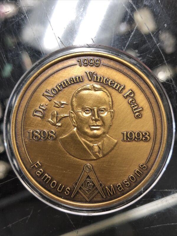 Dr. Norman Vincent Peale, Famous Masons Medallion