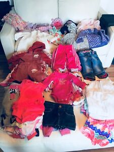Over 100 assorted 6-9 month baby girl clothes! (Group #1)
