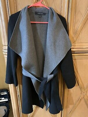 Neiman Marcus Cashmere Collection Small Black/Grey Wrap/coat Excellent Condition
