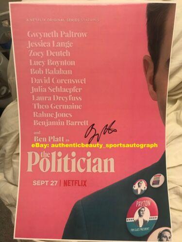 THE POLITICIAN BEN PLATT PAYTON HOBART PITCH PERFECT SIGNED TV SER 12x18 REPRINT