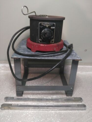 American Beauty Solder Pot Model 600  with Stand &  2 Extra Solder Bars