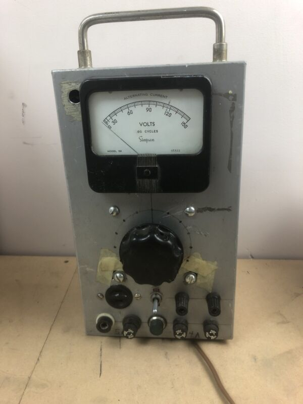 Simpson Model 59 Meter And Variac Dial 3.8a