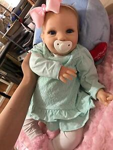 "22"" Partial Silicon!!! Reborn Baby Girl  doll not vinyl Docklands Melbourne City Preview"