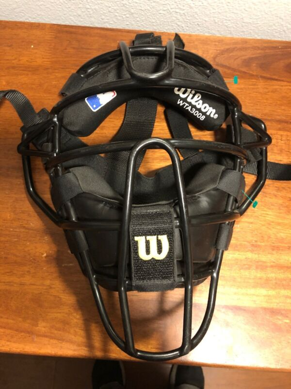 WILSON A3008 Baseball Catcher / Umpire Mask Helmet Dyna- Lite Steel EUC