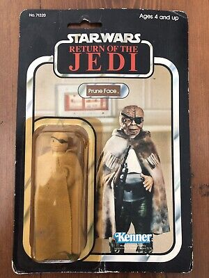 Vintage Star Wars ROTJ Prune Face Carded Original Kenner 1983