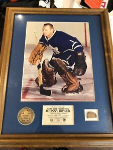 Johnny Bower autographed pic