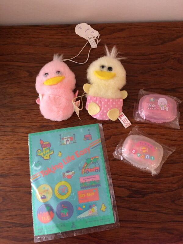 Vintage sanrio Plush Duckies Soaps And Stickers