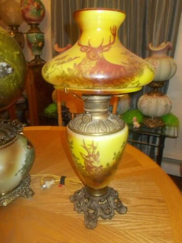 Gone With the Wind LampGWTW Lamp/ Kerosene Lamp with Hunting scene ~ Still in o