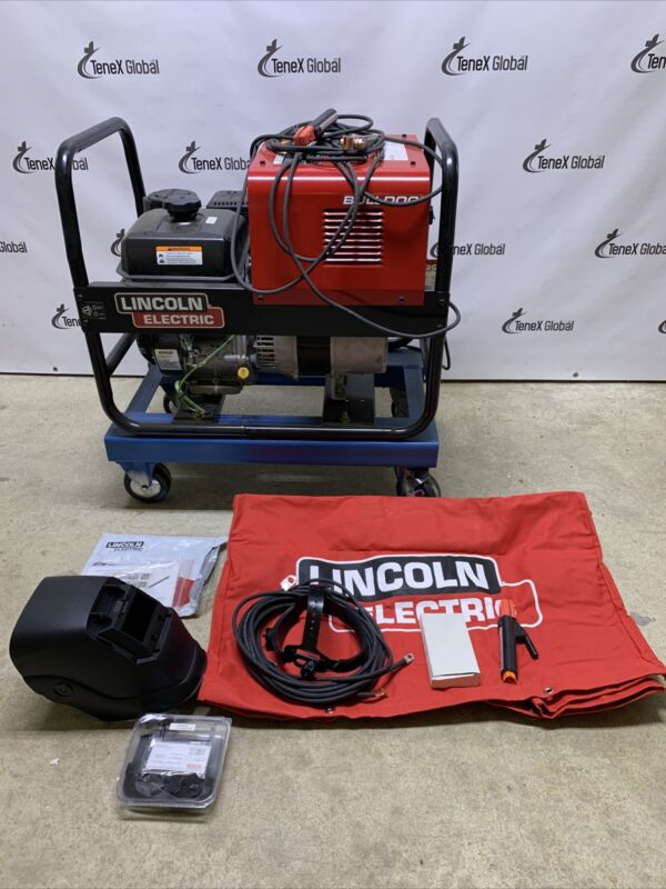 Lincoln Bulldog 5500 Stick Welder Generator with Cover and Cart Y-10