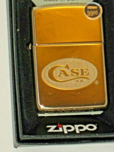 69644 Case XX Logo Double Luster Armor Brass NEW Windproof USA ZIPPO oil Lighter