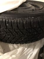 Goodyear Ultra Grip Winter Tires on Rims