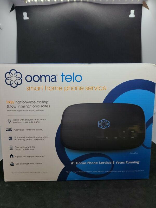Ooma Telo Free Home Phone Service VoIP Phone - Black (OOMATELO2) - Brand New!