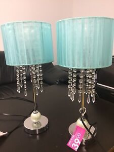Elegant Baby Blue Lamp Shades with Lamps