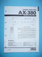 Manual De Servicio Para Yamaha Ax-380, Original - yamaha - ebay.es