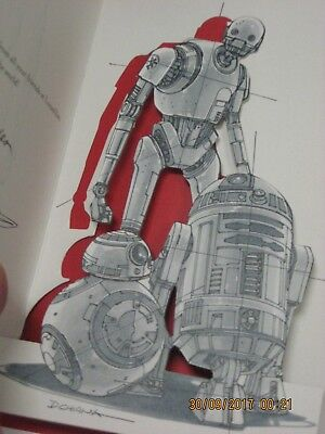 STAR WARS LUCASFILM 2016 CHRISTMAS/HOLIDAY CARD K-2SO BB-8 R2-D2 LOW# ULTRA - Star Wars Christmas Cards