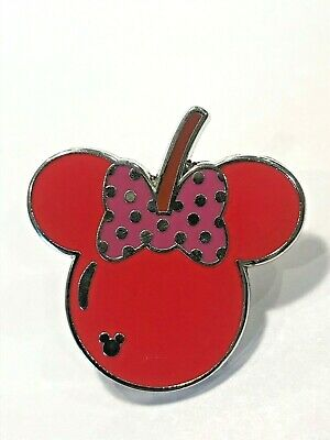 Disney World Parks Pin Trading Minnie Mouse Bow Red Cherry Apple Fruit Pin 2017