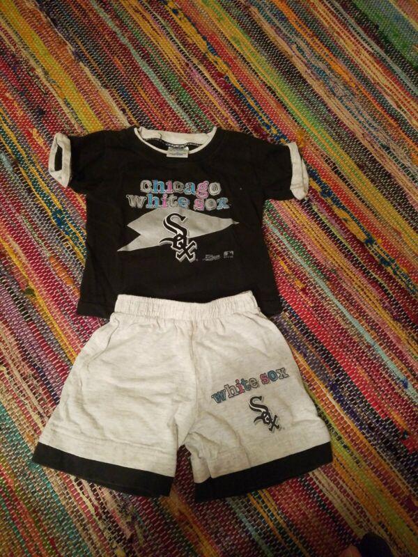 Vintage Salem Sports Baby Salem Chicago White Sox Set Shorts and T Shirt 3T