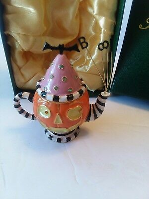 Department 56 Bejeweled Collection HALLOWEEN Pumpkin Teapot Jeweled Box - Halloween Bejeweled
