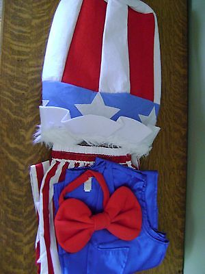 Pottery Barn Kids Uncle Sam Costume Patriotic Halloween ADULT LARGE 4-PC. ~ NEW  - Uncle Sam Halloween Costumes