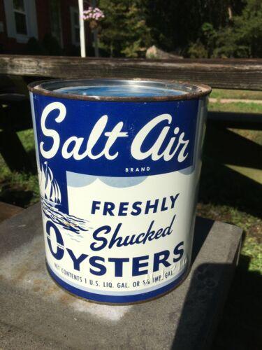 Salt Air Gallon Oyster can , Boston Mass