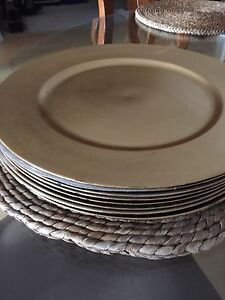 Charger plates, set of 8