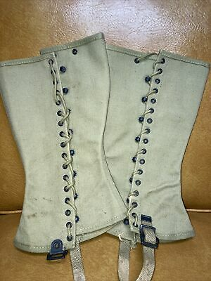 Spats, Gaiters, Puttees – Vintage Shoes Covers Gregory & Read CO. 1942 WWII WW2 Military Canvas Boot Spats Gaiters $34.99 AT vintagedancer.com