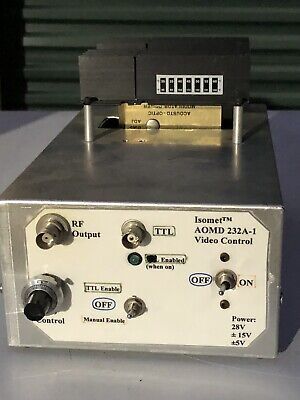 Isomet 232a-1 Acousto-optic Modulator Driver Video Control