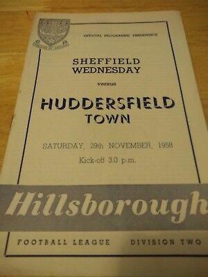 Sheffield Wednesday v Huddersfield Town 29/11/58