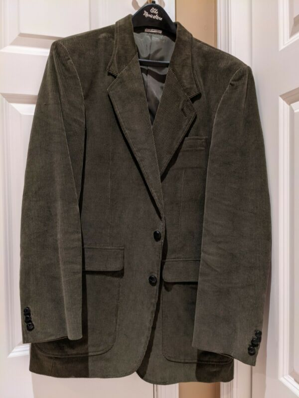 EUC The Mens Store cordury blazer green 42L 2 button coat