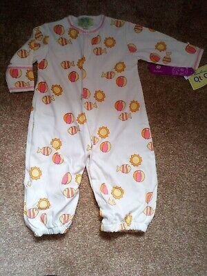 Designer kissy kissy Qt Qt Baby girls seaside Sleep play suit one size OS BMWT