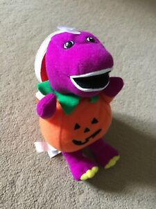 Halloween Barney Toy and Book