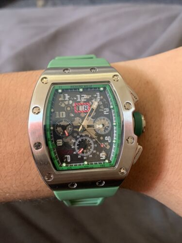 WATCH RICHARD MILLE RM011 ROSE GOLD TITANIUM RUBBER AUTOMATIC WATCH - watch picture 1