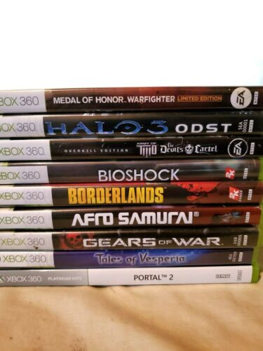 LOT OF XBOX 360 GAMES 9 GAMES IN TOTAL
