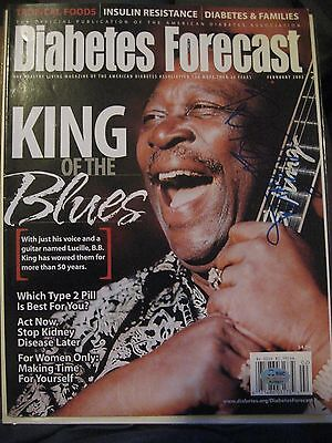 B. B. KING AUTOGRAPHED IN PERSON FEBRUARY 2002 DIABETES MAGAZINE WITH PICTURE
