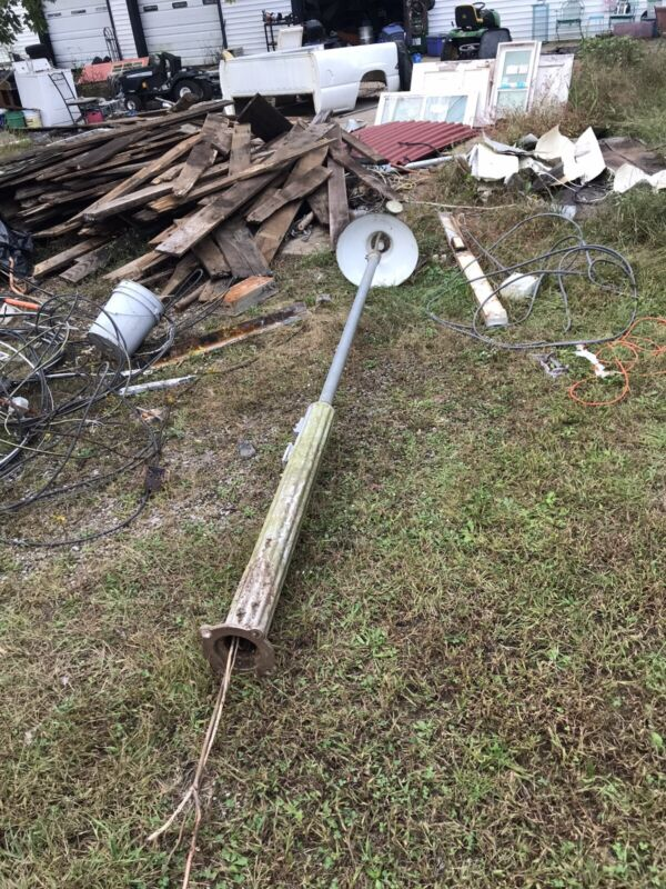 Vintage gas station Fluted light pole With Lights Delivery Available