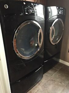 GE Washer and Dryer in black