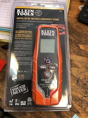 Klein Tools Et250 Digital Acdc Voltage Continuity Tester 600v New In Pkg